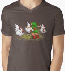 Camiseta para hombre de cuello en v mundo Jurasico