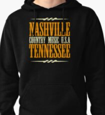 Nashville Tennessee Country Music Pullover Hoodie