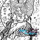 girl in the moon by LoreLeft27