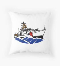 USCG Fast Response Cutter Throw Pillow