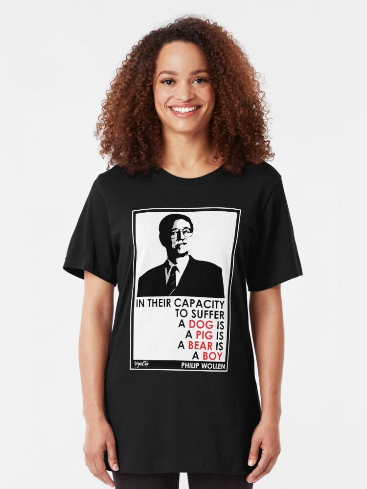 Alternate view of VeganChic ~ Philip Wollen Inspire Slim Fit T-Shirt