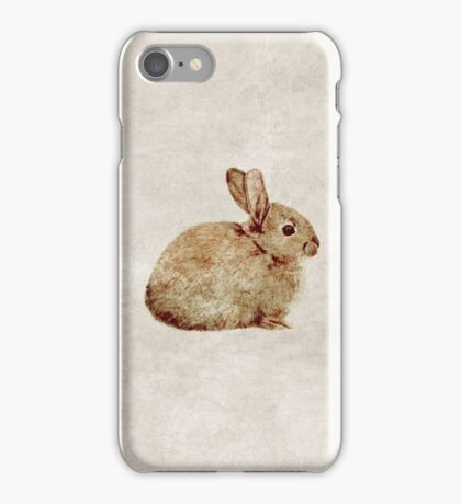 Vintage Rabbit Study in Watercolour iPhone Case/Skin