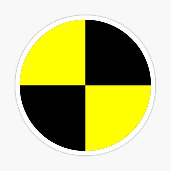 crash test dummies symbol  Sticker
