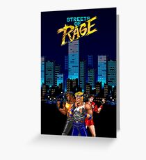 Street of Rage poster Greeting Card