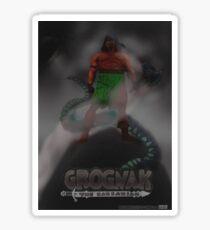 Grognak the Barabarian Skyrim parody Sticker
