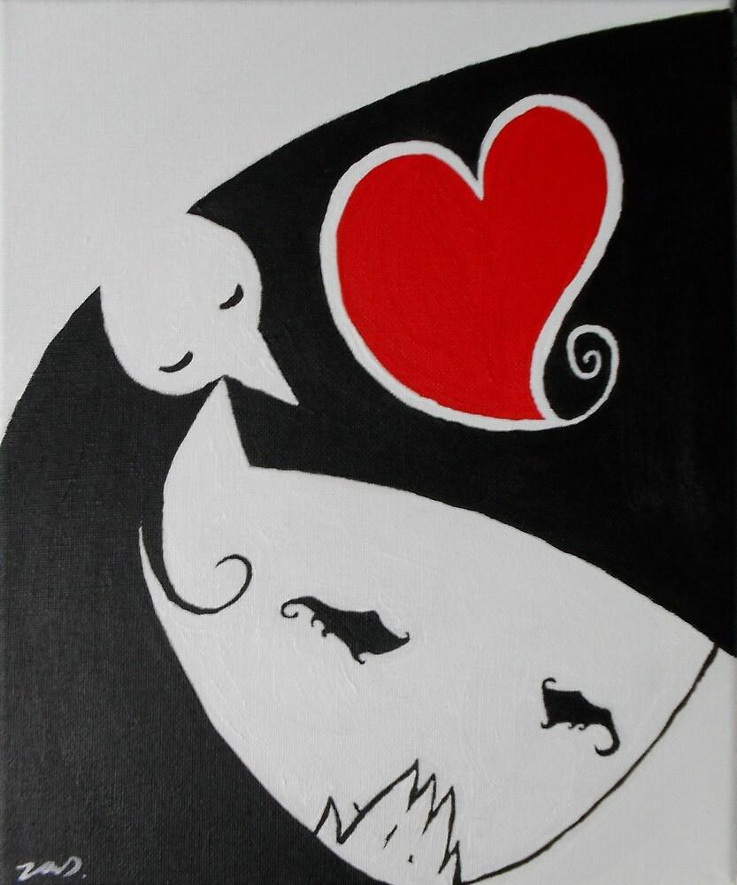 Heart Girl Birdy by Jordan Debben