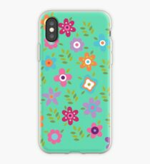 Scattering of cute flowers iPhone Case