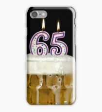 65th Birthday Beer iPhone Case/Skin