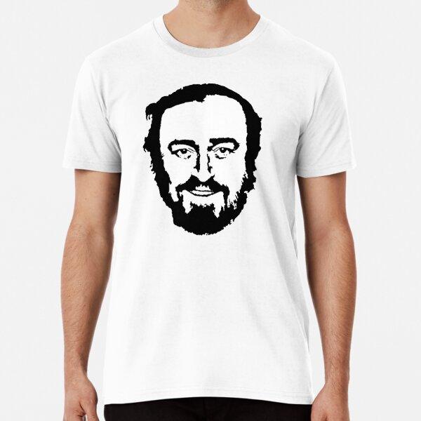 Luciano Pavarotti Tenor Opera Singer Potrait (BW) Premium T-Shirt