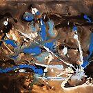 Blue Decay Painting by Dea Poirier