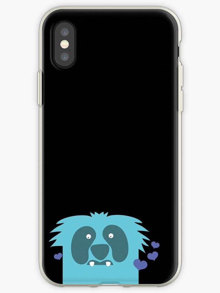 Aqua blue cute monster by jazzydevil