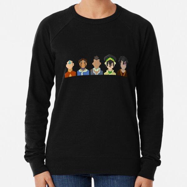 Avatar the Last Airbender Trixelart group Lightweight Sweatshirt