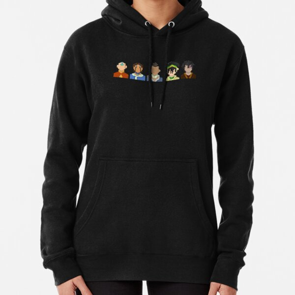 Avatar the Last Airbender Trixelart group Pullover Hoodie