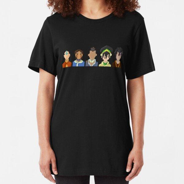Avatar the Last Airbender Trixelart group Slim Fit T-Shirt