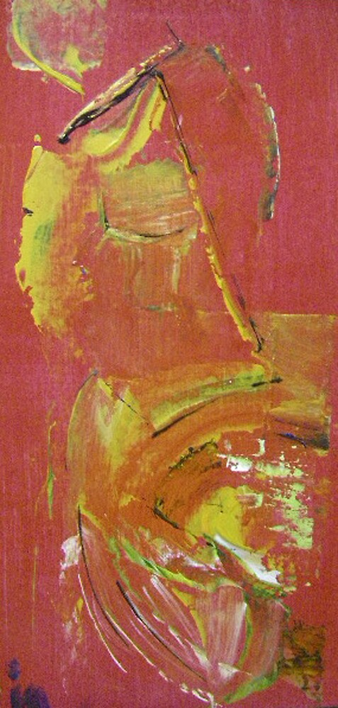 red abstract 2 by Isabelle Nivet