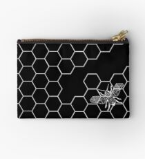 Beehive and Bee Black Studio Pouch