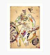 That Bike Ain't Gonna Ride Itself Art Print