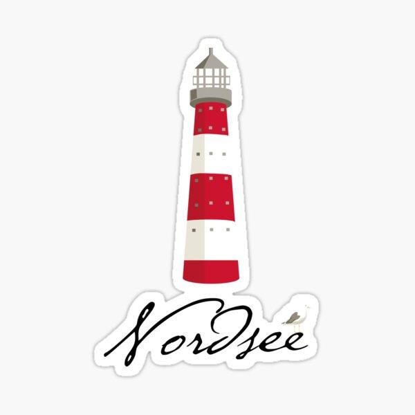 North Sea lighthouse Sticker