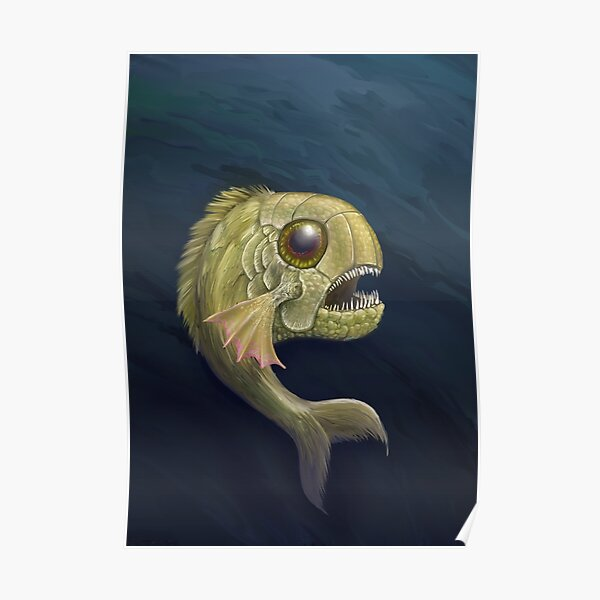 Hairy Fish Critter Poster