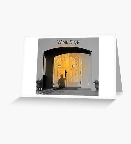 Entering Wine Shop Greeting Card
