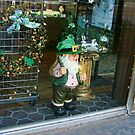 Storefront in Dublin, Texas - Decked Out for St. Patrick's Day by Susan Russell