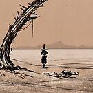 Hat-Man Desert Wanderer by Peter Fitzpatrick