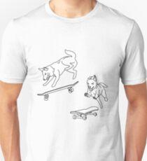 skater dogs Unisex T-Shirt