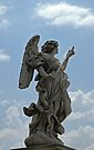 Angel statue on Ponte Sant'Angelo, Rome by David Carton