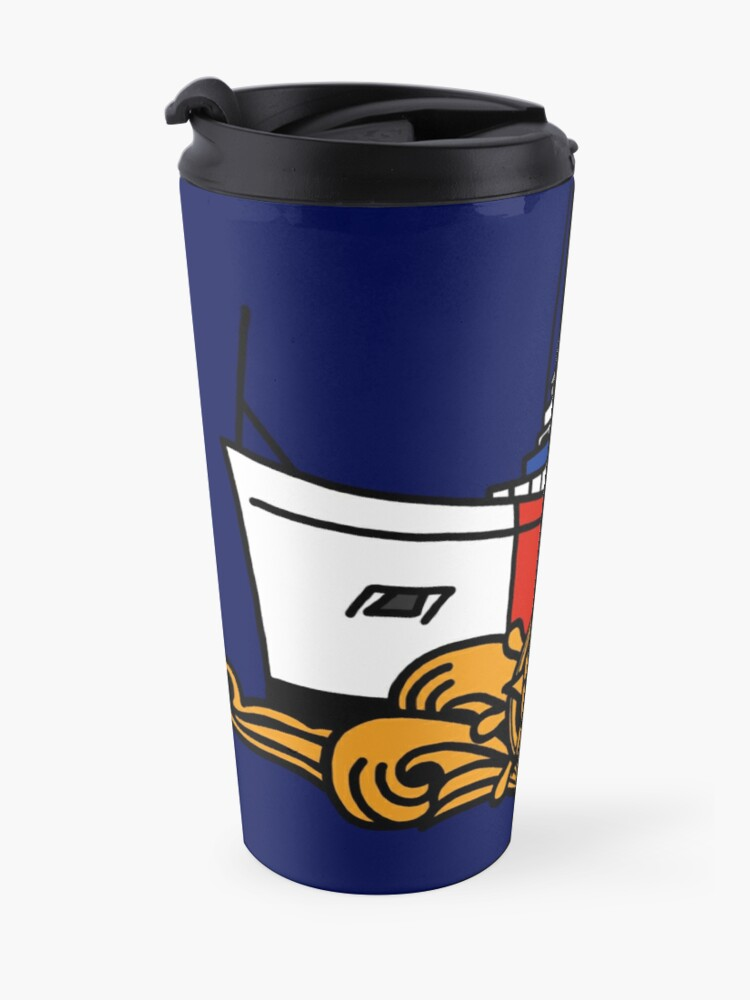 Alternate view of Coast Guard 210 Cutterman - Officer Travel Mug