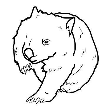 Australian Wombat Doodle  by SharkaSplat