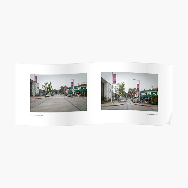 Melrose Avenue + Westmount Drive, West Hollywood, Los Angeles, California, USA...narrowed. Poster