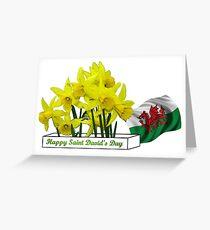 Happy Saint David's Day Greeting Card