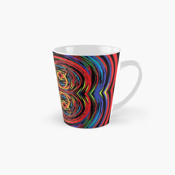 #abstract #design #pattern #art #illustration shape creativity decoration psychedelic illusion textured backgrounds circle Tall Mug