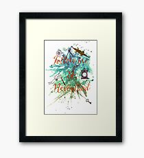 Follow me to Neverland Framed Print