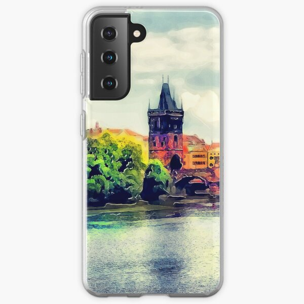 Prague bridge watercolor #prague Samsung Galaxy Soft Case