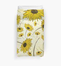 Yellow florals Duvet Cover