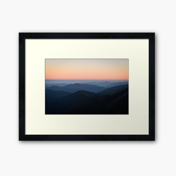 Morning Sky at Mount Hotham Framed Art Print