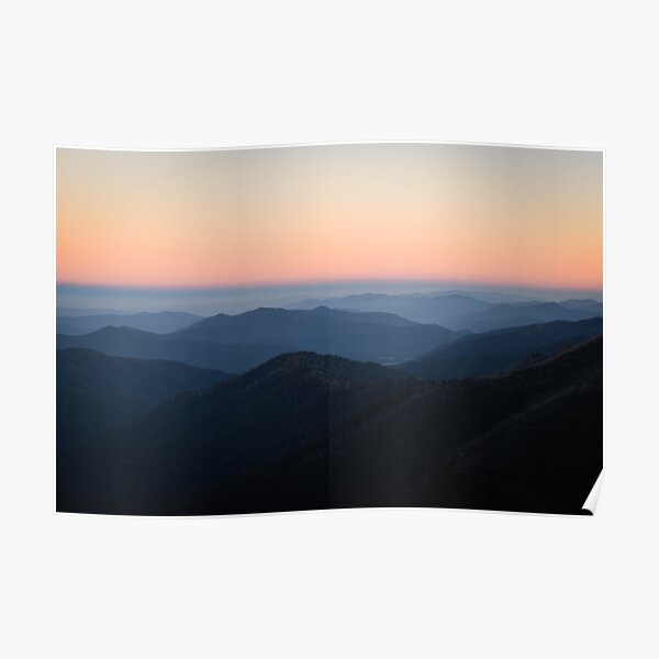 Morning Sky at Mount Hotham Poster