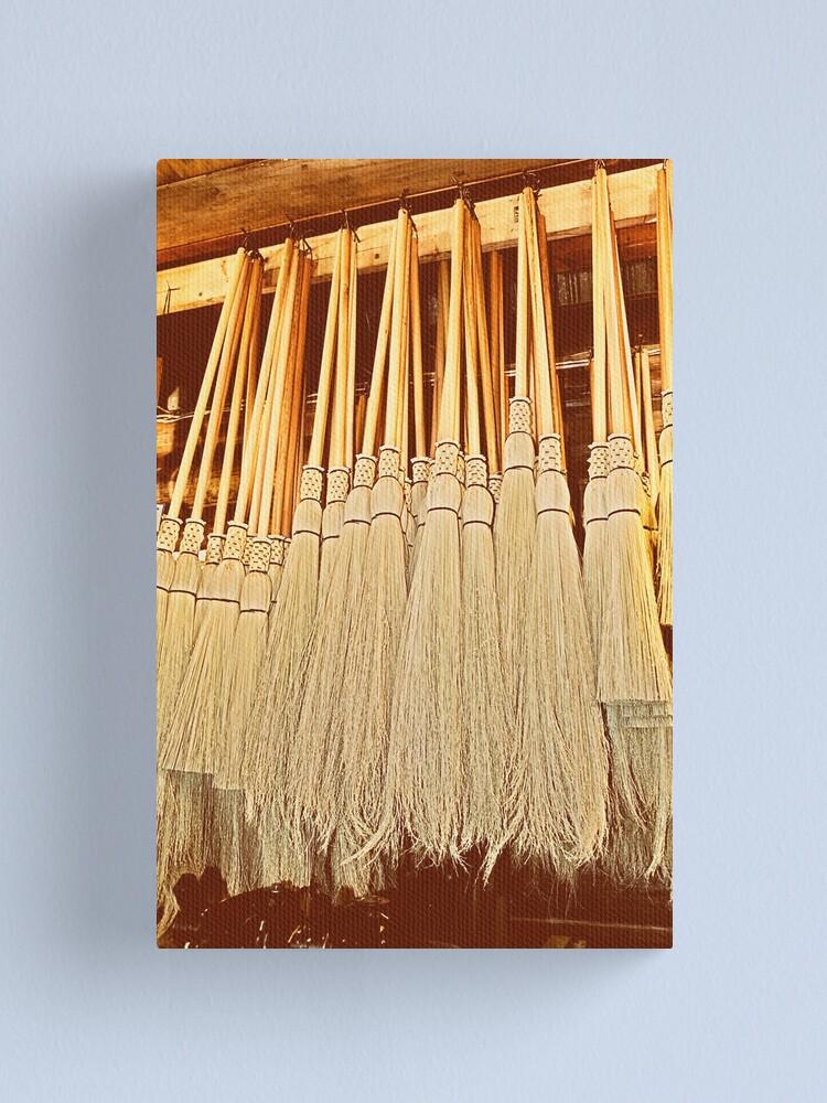 Alternate view of Cobwebber Corn Brooms Canvas Print