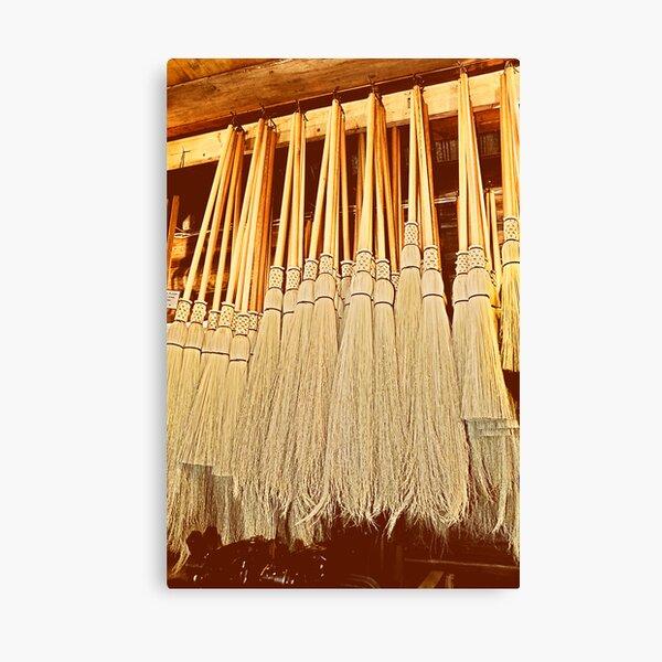 Cobwebber Corn Brooms Canvas Print