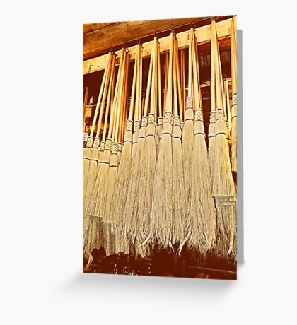Cobwebber Corn Brooms Greeting Card