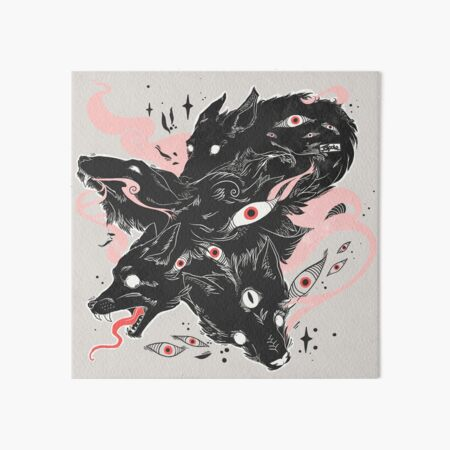 Wild Wolves With Many Eyes Art Board Print