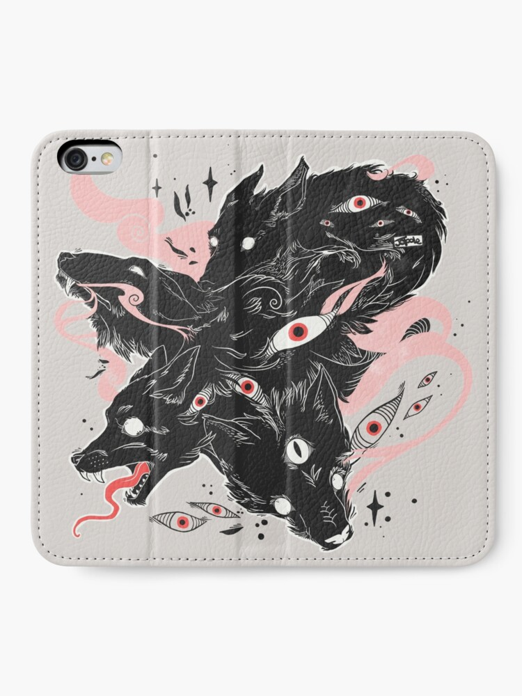 Alternate view of Wild Wolves With Many Eyes iPhone Wallet
