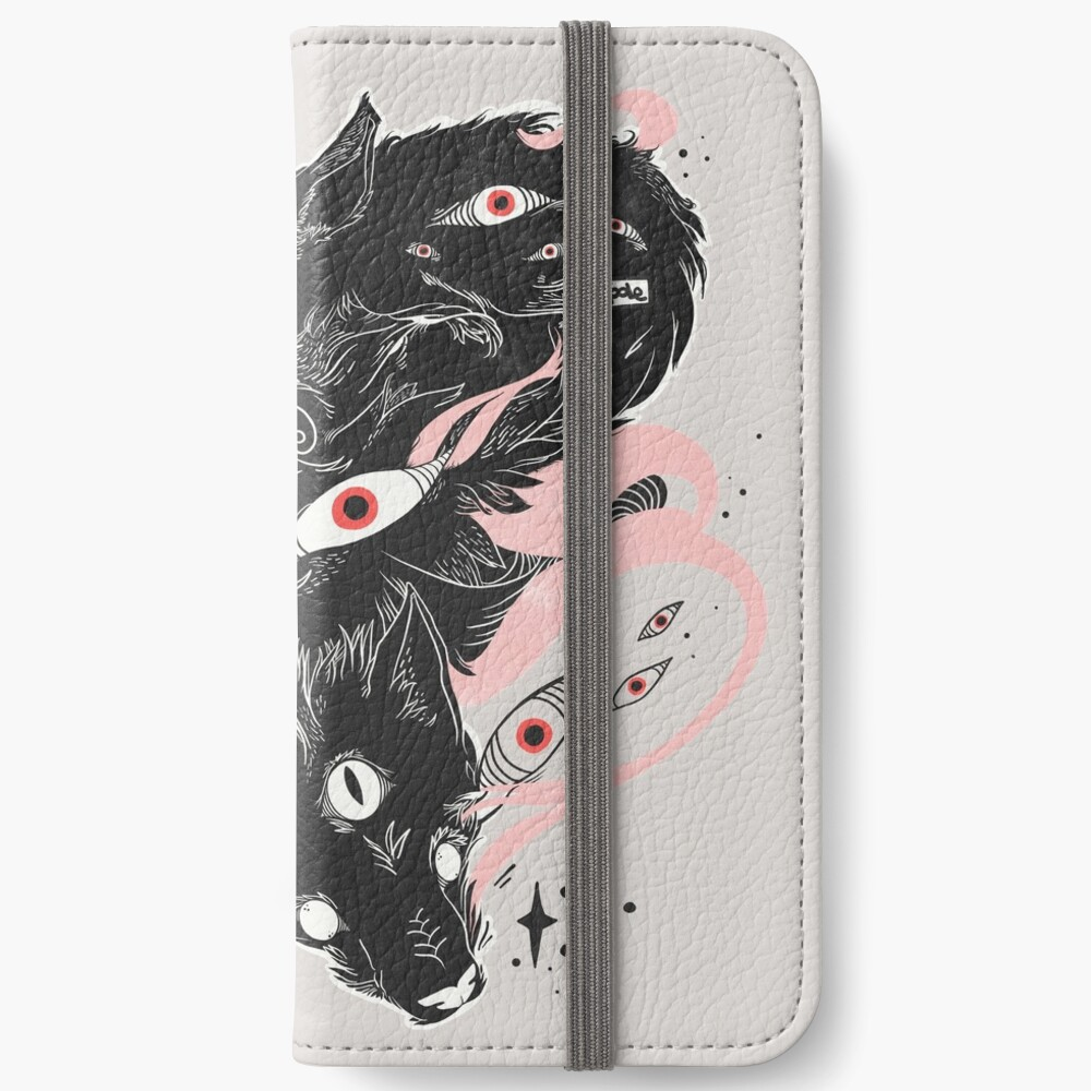 Wild Wolves With Many Eyes iPhone Wallet
