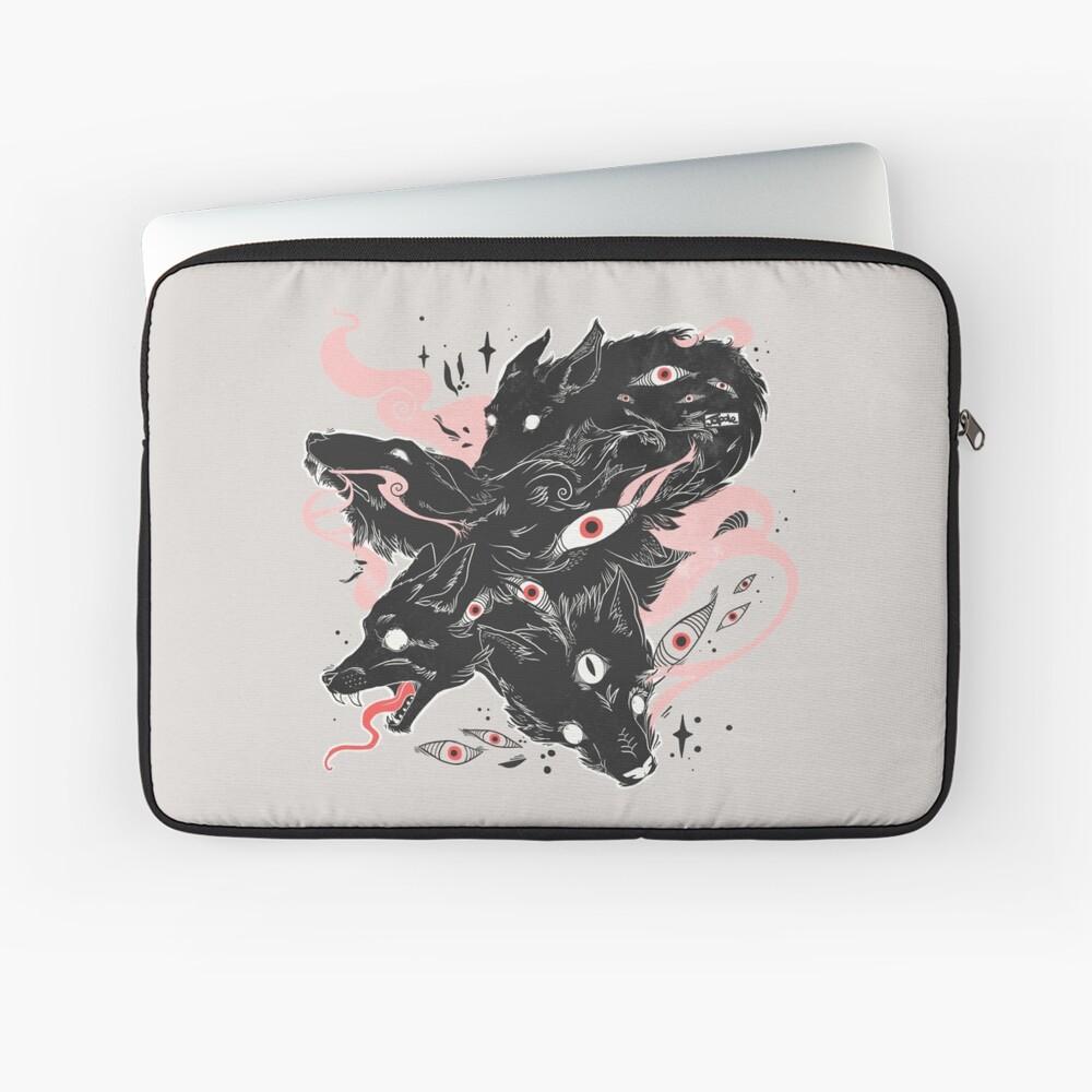 Wild Wolves With Many Eyes Laptop Sleeve