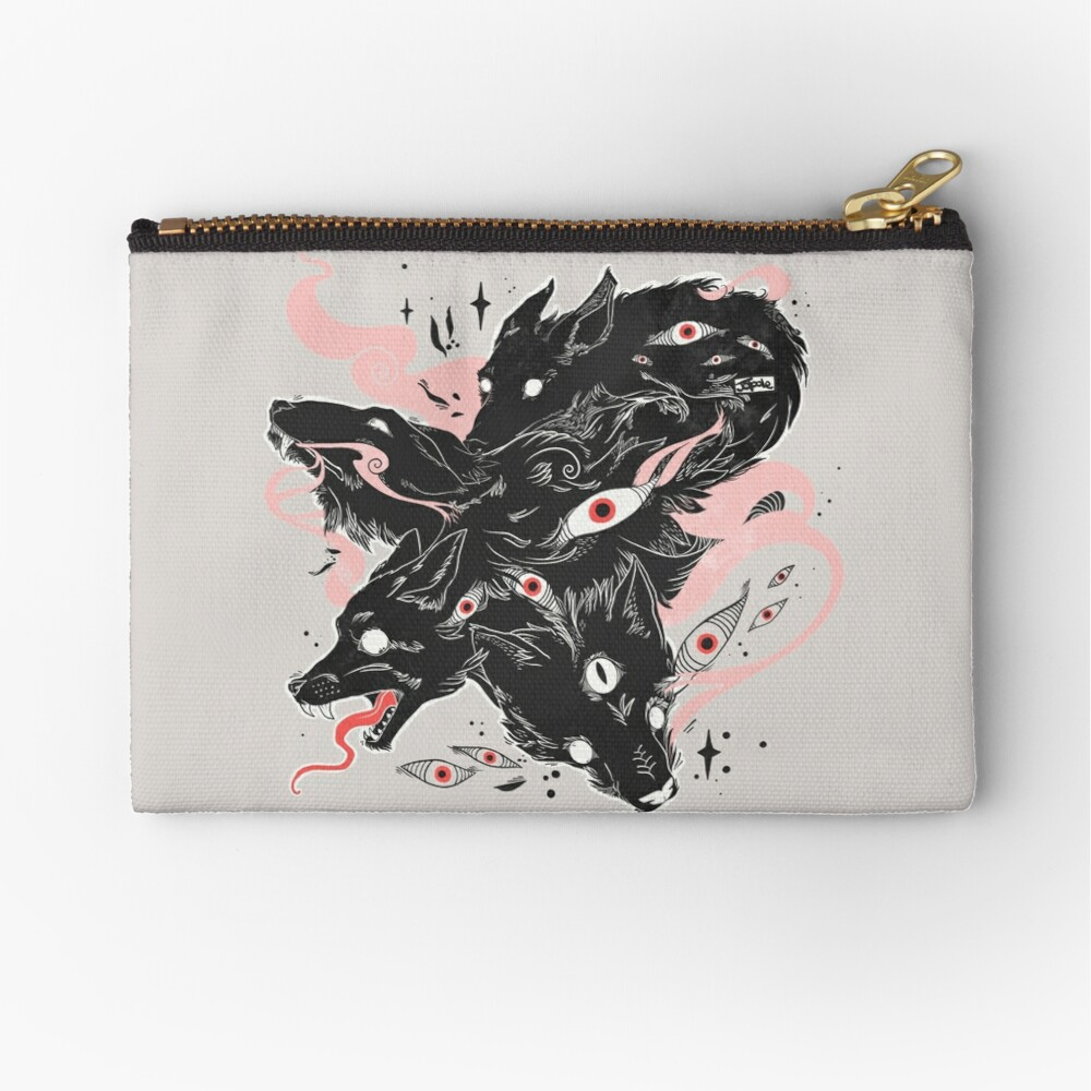 Wild Wolves With Many Eyes Zipper Pouch