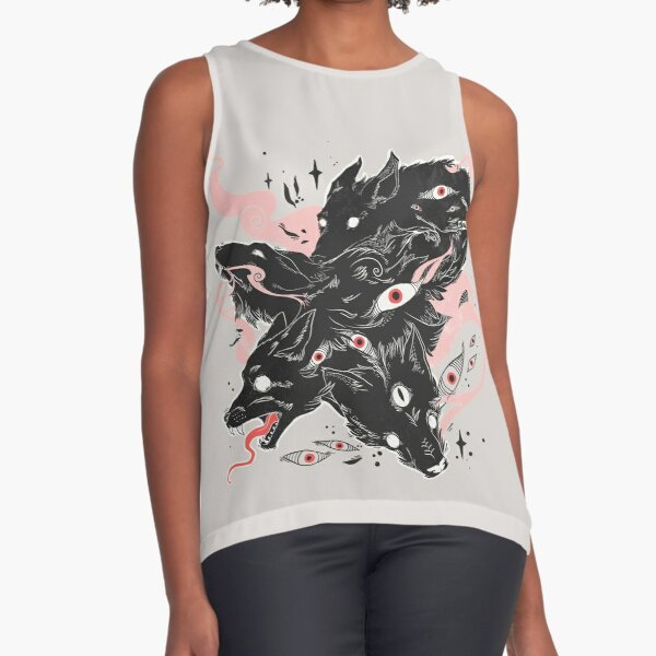 Wild Wolves With Many Eyes Sleeveless Top