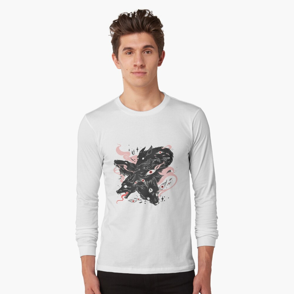 Wild Wolves With Many Eyes Long Sleeve T-Shirt