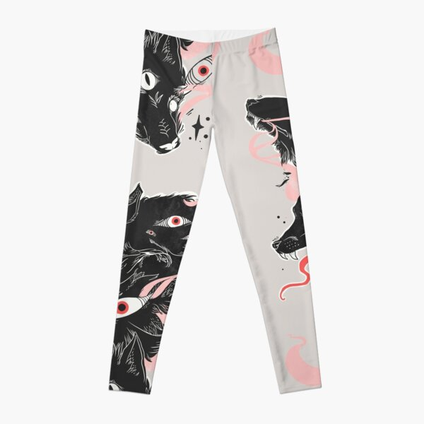 Wild Wolves With Many Eyes Leggings