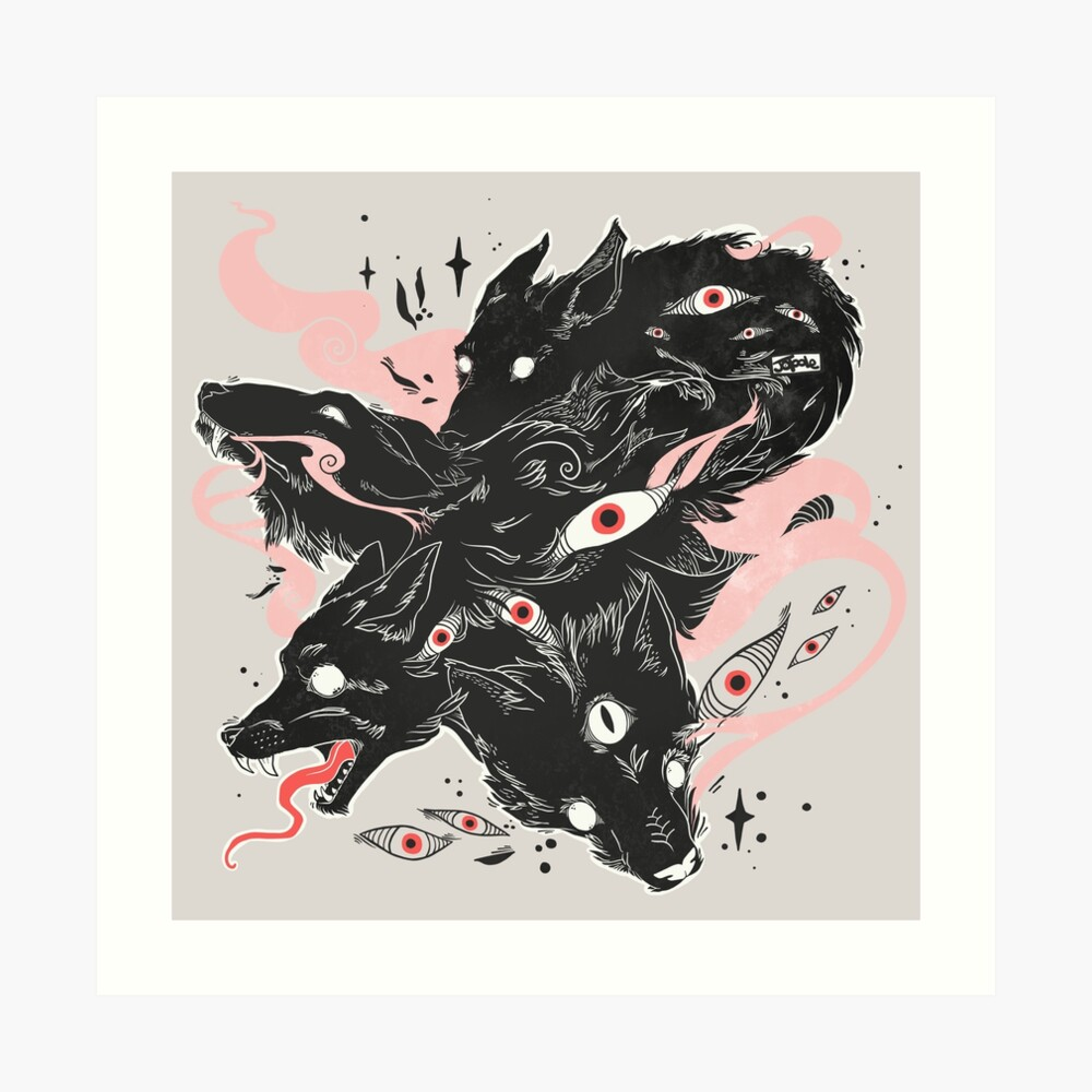 Wild Wolves With Many Eyes Art Print